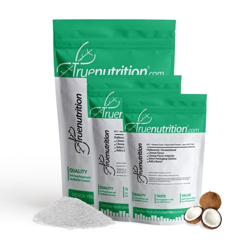 True Nutrition MCT - Medium Chain Triglycerides Powder - non-GMO (1lb.) by True Nutrition