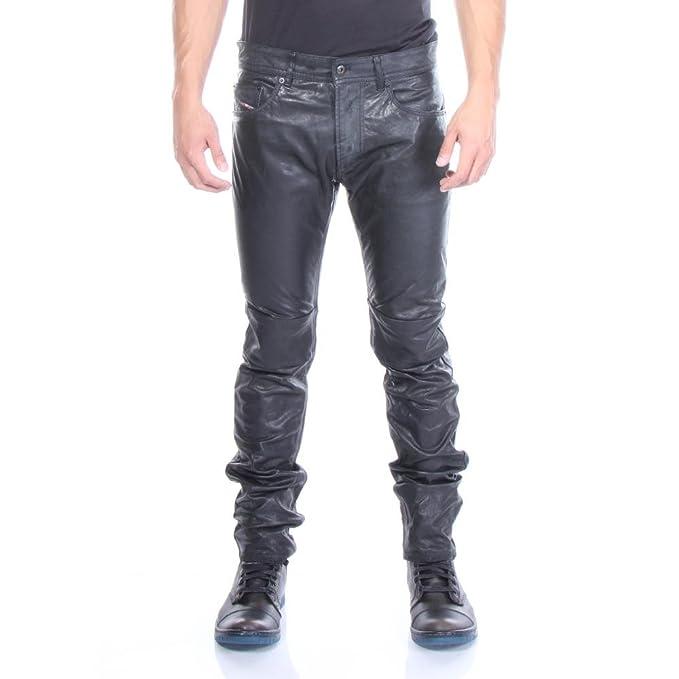 b30c6e0d Diesel Men's P-Thavar-DEST Leather Pants: Amazon.ca: Clothing & Accessories