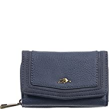 Roots 73 Trifold Wallet with 3 Way Zipper RFID (Navy)