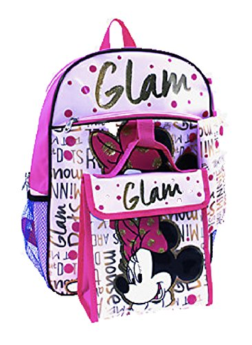 Backpack Nap Sack (Minnie Mouse Disney Girls 5-Piece Backpack Set)