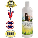 Spring Pet Aloe and Oatmeal Shampoo for Dogs and Cats ~ 16 Oz Veterinary Hypoallergenic Formula Made in USA