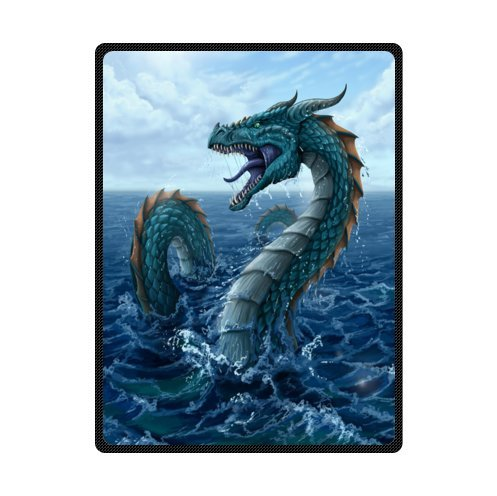 Fire Breathing Dragon Super Soft Fleece Blankets and throws 58 X 80 inch