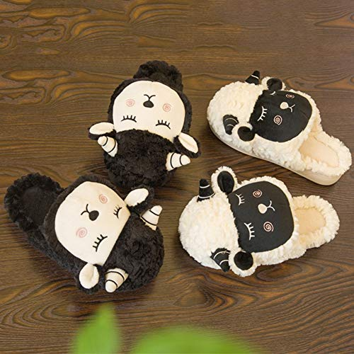 nbsp;cotone Casa 43 Interna Pantofole Black Pantofole Bella Coppia nbsp;in 44 Caldo Inverno Mantenere Scarpe Hairycartoon black Yangyongli 1wIBFB