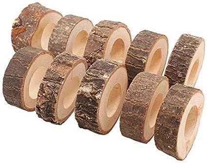 Portatovaglioli in Legno Portatovaglioli in Stoffa Set Fenteer 10 X Portatovaglioli Natalizi