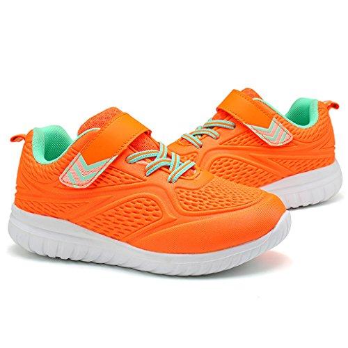 Jungen Laufschuhe Leichte Sportschuhe Trainer Sneaker für Mädchen Orange