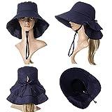 Summer Bill Flap Cap SPF 50 Cotton Sun Golf Hat