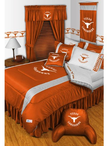 NCAA Texas Longhorns - Comforter Set - Queen College Bedding by NCAA