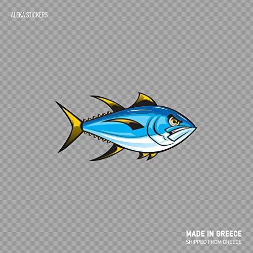 Boyce22Par Angry Yellowfin Tuna Fishing Fisherman Ocean Saltwater Boat Decoration X45 Funny Sticker Decal 7x6 inch