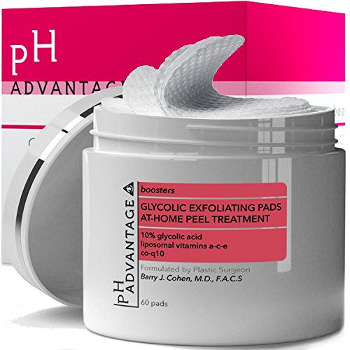Glycolic Exfoliation Wash - Glycolic Acid Peel Pads - Anti Aging AHA Facial Scrub Cleanser - Daily Face Treatment Helps Reduce Acne Blackheads Wrinkles - Skin Care for Women and Men - Boosts Efficiency of Moisturizers - 50 ct