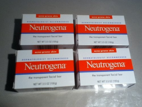 Neutrogena - Transparent Facial Bar, Acne-Prone Skin Soap Neutrogena(4 BARS)