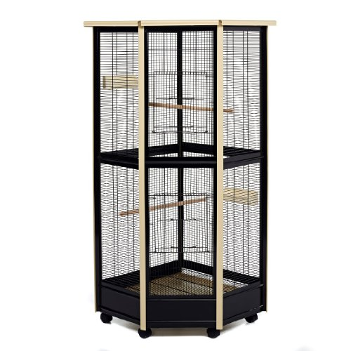 Little Friends Tall All Metal Corner Aviary Cage - Great for Birds, -