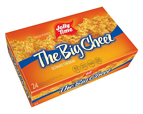 Jolly Time The Big Cheez Gourmet Cheddar Cheese Microwave Popcorn, Bulk 24Count Box