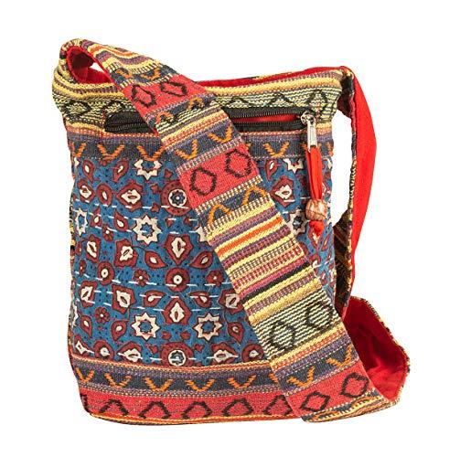 Women Hobo Floral Satchel Messenger Sling Bag Small Medium Everyday Boho Hippie Cute Casual Beach (Woven -