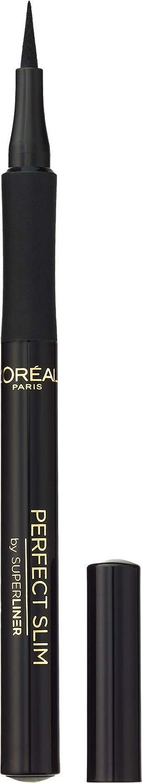L'Oréal Paris Super Liner Perfect Slim Eyeliner Líquido, Trazo Extrafino, Color Negro, 6 g