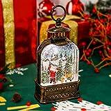 CaiFang Snow Globe Lantern, 6H Timer Musical