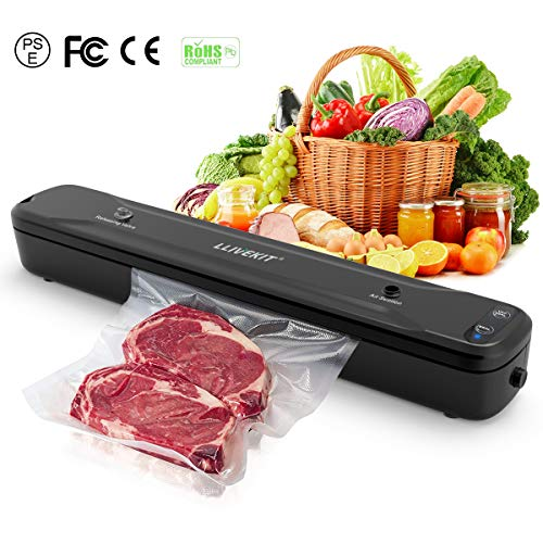 (Llivekit Vacuum Sealer, Automatic Vacuum Packing Machine for Dry/Moist Food with Bags)