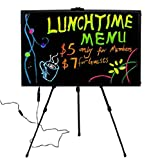 28''x 20'' Flashing Illuminated Erasable Neon LED Writing Board Menu Sign with Control Button (A Complete Set-8 8mm Fluorescent Marker Pens Included)(7 Colors and Flashing Mode) by Autolizer