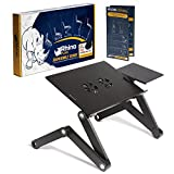 Adjustable Laptop Stand - Use It as a Standing Desk at The Office, Computer Holder On The Sofa, Cozy Desk in Bed - Foldable Sturdy Aluminum Laptop Table