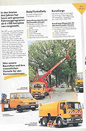 Amazon.com: 1994 Iveco Euro Trakker Star Tech Cargo Daily Turbo Truck Brochure German: Entertainment Collectibles