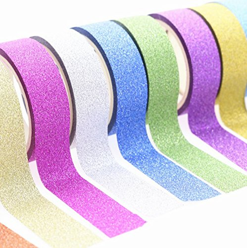 Darius Decorative Flash Rainbow Sticky Paper Masking Adhesive Tape Scrapbooking DIY Masking Adhesive Tape -Flash Rainbow Flash Powder Handmade Decorative Stickers & Glitter Washi Tape