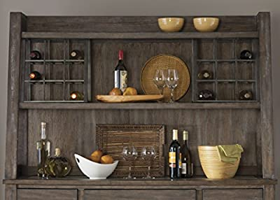 "Liberty Furniture 466-CH6279 Stone Brook Dining Hutch, 63"" x 17"" x 40"", Rustic Saddle"