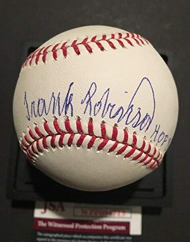 (Frank Robinson Autographed Signed Memorabilia Official MLB Baseball Inscribed Hof 82 Mint Auto - JSA Authentic)