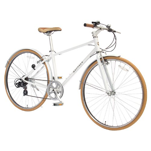 WACHSEN(ヴァクセン) 700C クロスバイク【軽量アルミフレーム】 シマノ6段変速 48Tチェーンホイール 13.5kg 泥除け/スタンド付 reise BR-700 B0033UE0V4