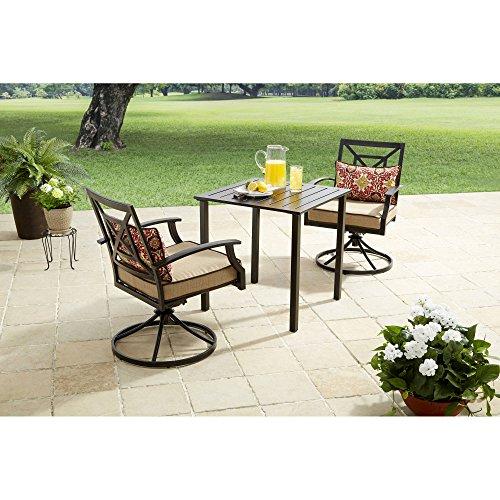 Better Homes and Gardens Carter Hills 3-Piece Outdoor Bistro Set, Seats 2 (Tan) (Buy Bistro Set)