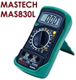Mastech MAS830L Digital Multimeter With Probes For Measuring Resistance. AC/DC Voltage & Current