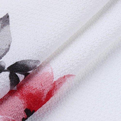 Hombro Vestidos Mujer Fiesta Mujer Mujer Mujer Manga FAMILIZO Elegantes Blanco Vestidos Largos De Corta Largos Vestidos Verano Vestidos Grandes Fiesta De Vestidos Sin Flores Tallas Mujer UwqqdpF