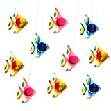 "10pcs 10"" Tissue Paper Tropical Flying Fish Decorations for Luau Themed Party Birthday Under The sea Themed Party or Room Decor"