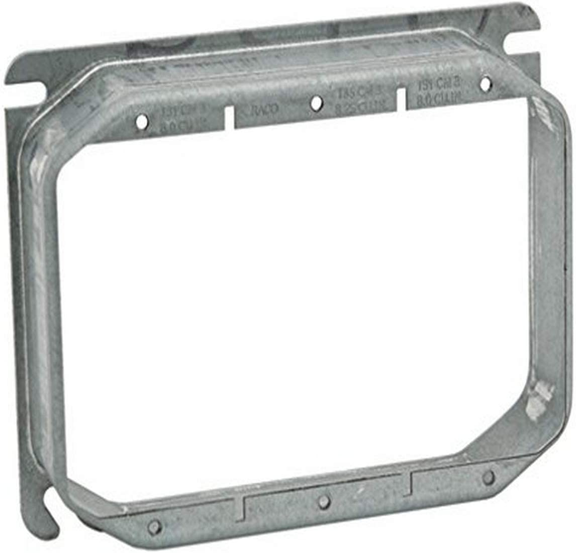 Hubbell-Raco 822 3//4-Inch Raised 3 Gang Welded Box Mud Ring