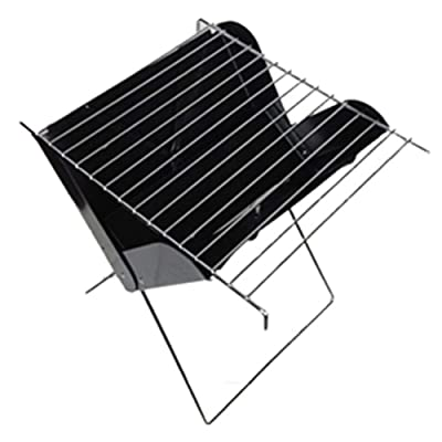 iWEingHo&21 BBQ Charcoal Grill, Folding Portable Lightweight Barbecue Grill Tools for Outdoor Grilling Cooking Camping Hiking Picnics Tailgating Backpacking Party 32cm x 26.5cm x 33cm: Sports & Outdoors