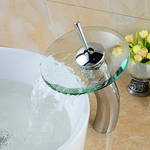 AXWT Hot And Cold Basin Taps Glass Waterfall Wash Basin Faucets High Section Washbasin Water-tap Quality Guarantee