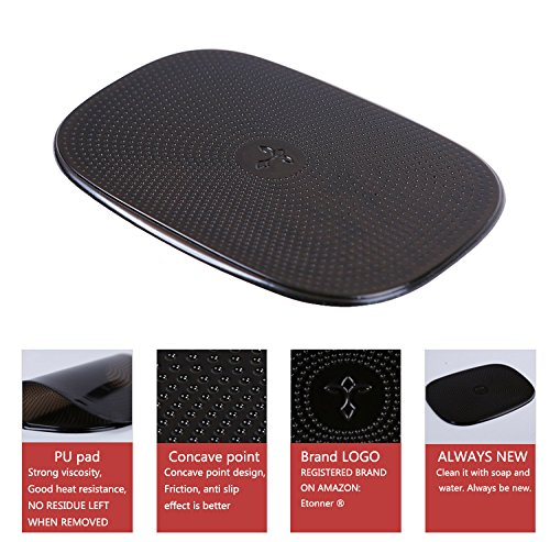 Etonner Non-Slip PU Pad- Black and translucent - Holds Cell Phones, Sunglasses, Coins, Perfume Diffuser, - Guangzhou Sunglasses