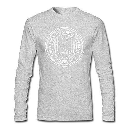 - Men University Of North Carolina At Chapel Hill Seal Long Sleeve T-Shirt Gray