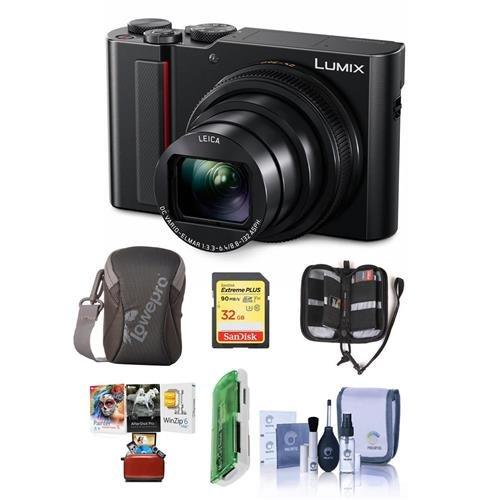 Panasonic Lumix DMC-ZS200 Digital Point & Shoot Camera, Blac