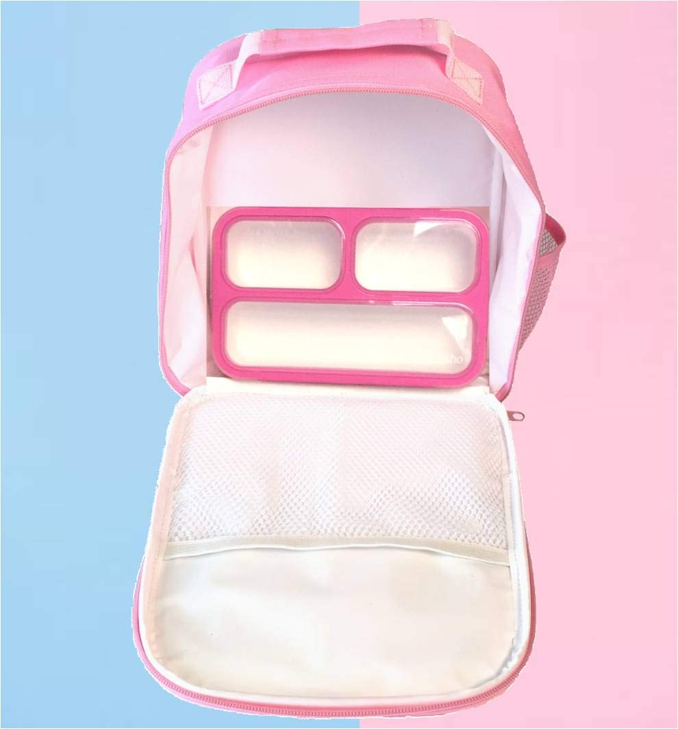 Unicorn Lunch-Box for Girls. Pink Lunch Bag Rainbow Horn. Large School Lunch-Boxes Kids. Cute Tote. Insulated. BPA Free. 8