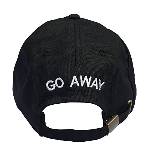 Go Away Embroidered Dad Hat 100% Cotton Baseball Cap For Men And Women (Black) One size, Back Band Adjustable