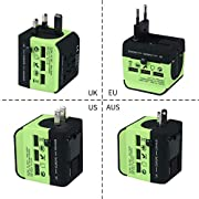 Electrical Socket European/American/Australia/UK Plug Adaptors All in One Universal Travel Adapter with USB Charger…