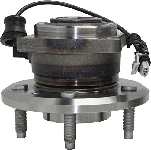 (Detroit Axle Rear Left or Right Side Wheel Hub and Bearing Assembly - 5-Lug w/ABS for 12-15 Chevy Captiva Sport - [07-09 Equinox] - 07-09 Torrent - [08-10 Vue] - 07-09 XL-7 - Rectangular Flange)