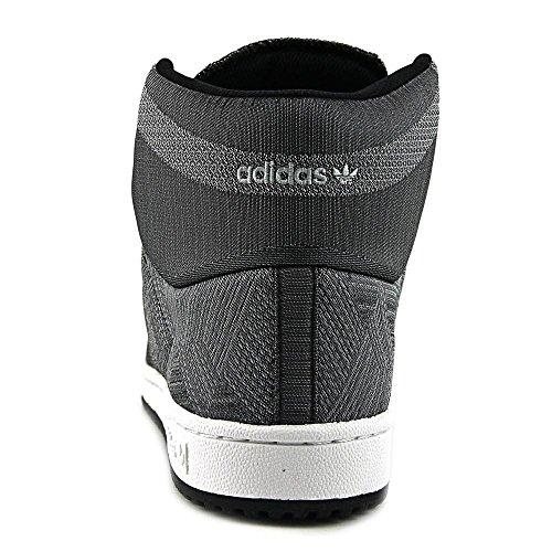 info for e584d ab489 85%OFF Adidas Top Ten Hi Woven Men Round Toe Canvas Gray Sneakers