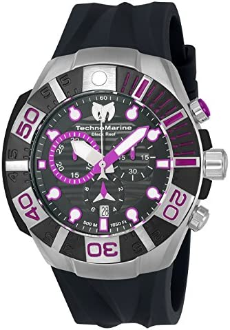 Technomarine Men s Black Reef Swiss Quartz Casual Watch