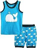 Vaenait baby 100% Cotton Kids Boys Summer Sleeveless Clothing Set Bobo Dolphin Blue L