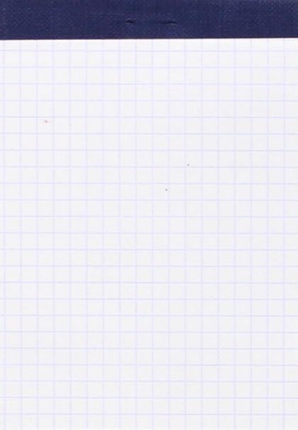 Guerrero 76084 - Block de notas perforado 16º, 80 hojas cuadriculadas 4 x 4: Amazon.es: Oficina y papelería