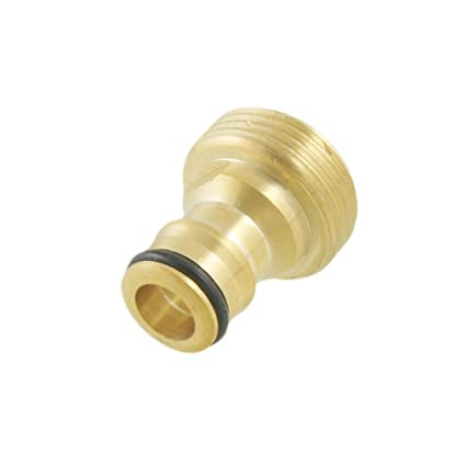 "1//2/"" 3//4/"" Screw On Thread Tap End Connector Garden Hose Pipe Lock Adaptor"