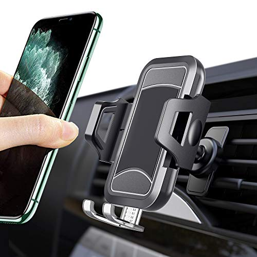 iCaroad Car Phone Mount, Ultimate Hands-Free Cell Phone Holder for Car Air Vent Cradle Compatible with iPhone 11Pro Max/X/XS/XS Max/XR/8 plus/8/7/6/5, Samsung Galaxy S10+/S9/S9 Plus/S8/S7/Note 10+