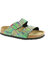 Birkenstock Unisex Arizona Tropical Leaf Green Birko-flor¿ Sandals - 5-5.5 2A(N) US Women