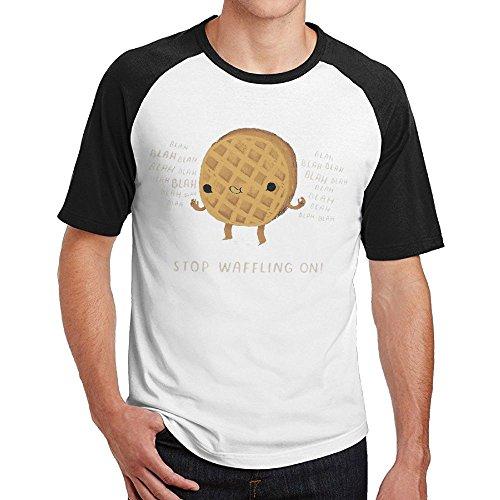 - Sakanpo Men Cartoon Cookies Short Sleeve Baseball Tshirt Black M