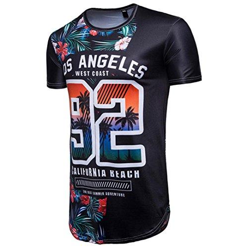 LuckyGirls Camisetas Hombre Originales 3D Estampado de 92 Floral Manga Corta Camisas para Copa Mundial FIFA 2018 Casual Verano Remera Moda Polos: Amazon.es: ...